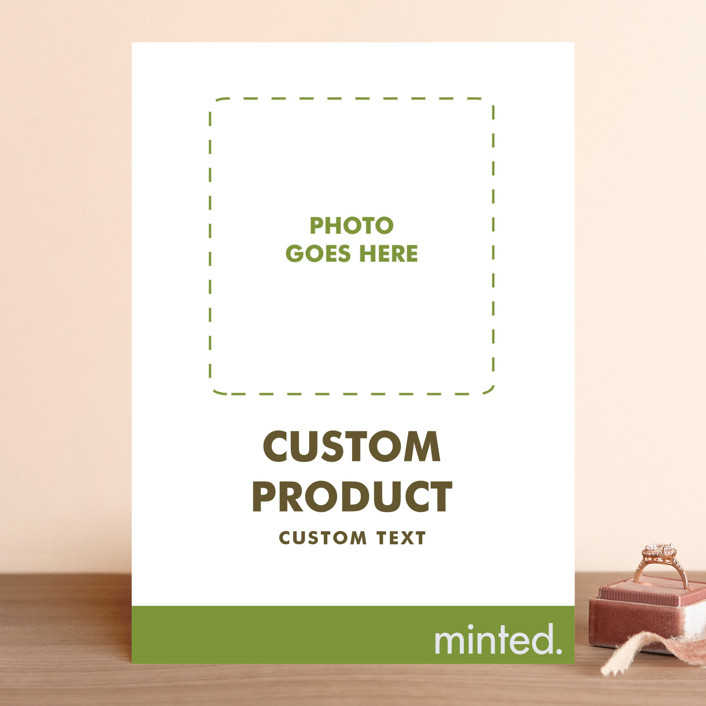 """""""Portrait"""" - Bridal Shower Invitations in Charcoal by Minted Custom."""