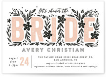 This is a pink bridal shower invitation by Alethea and Ruth called Bride Florals with standard printing on signature in standard.