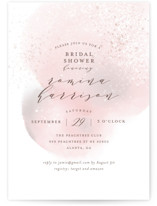This is a pink bridal shower invitation by iamtanya called Sweet Watercolor with standard printing on signature in standard.