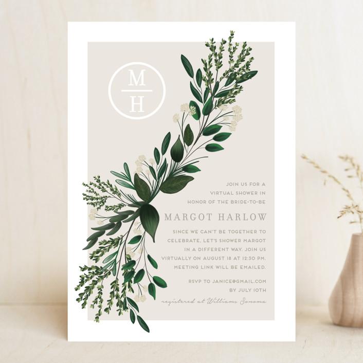 """Watermark"" - Bridal Shower Invitations in Cypress by Kaydi Bishop."