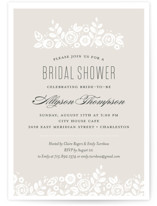 This is a brown bridal shower invitation by Jessica Williams called White Shadows with standard printing on signature in standard.
