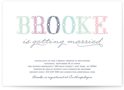 Polen Bride Bridal Shower Invitations