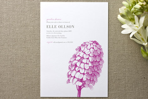 Modern Day Garden Party Bridal Shower Invitations