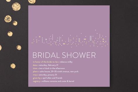 Night Lights Bridal Shower Invitations