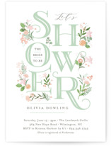This is a green bridal shower invitation by Jennifer Wick called Cascading Shower with standard printing on signature in standard.