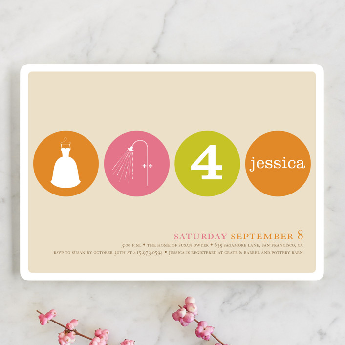 """Polka Dot"" - Modern, Whimsical & Funny Bridal Shower Invitations in Candy by pottsdesign."