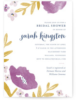 This is a purple bridal shower invitation by Oscar & Emma called Fresh Cut with standard printing on signature in standard.