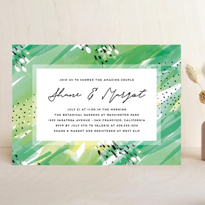 """Bright Celebration"" - Bohemian Bridal Shower Invitations in Grass by Simona Camp."