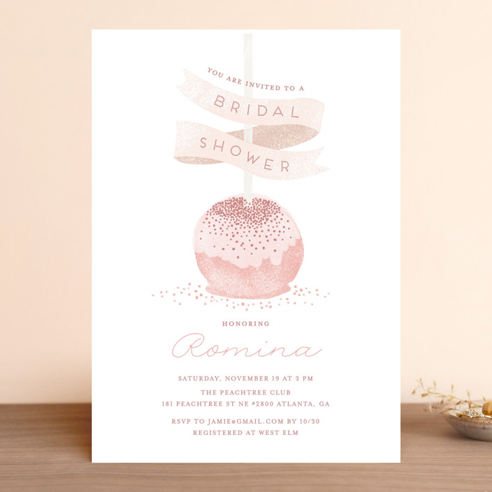 """Sweet Cake Pop"" - Bridal Shower Invitations in Strawberry by iamtanya."