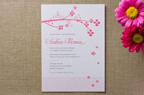 Sweet Blossom Bridal Shower Invitations