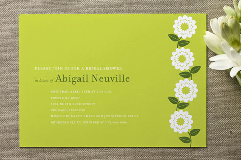 Spring Soiree Bridal Shower Invitations