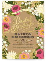 This is a pink bridal shower invitation by Griffinbell Paper Co. called Floral Canopy with standard printing on signature in standard.