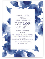 This is a blue bridal shower invitation by Chris Griffith called Cornflower Wedding with standard printing on signature in standard.
