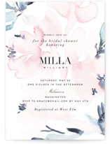 This is a pink bridal shower invitation by Petra Kern called Florista Modernista with standard printing on signature in standard.