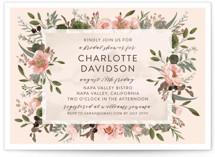 This is a pink bridal shower invitation by Susan Moyal called Desert Blooms with standard printing on signature in standard.