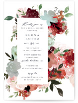 This is a green bridal shower invitation by Leah Bisch called Cascading Florals with standard printing on signature in standard.