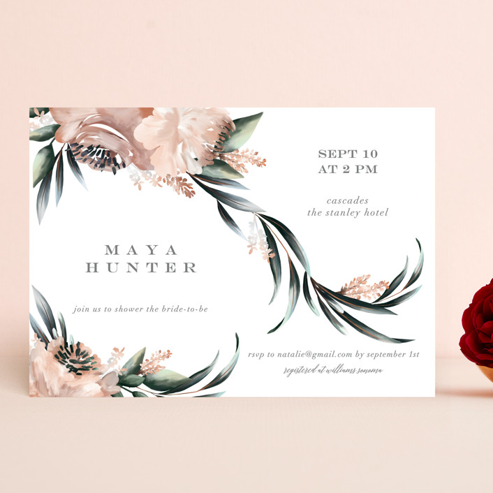"""Maya Rustica"" - Bridal Shower Invitations in Rose by Petra Kern."