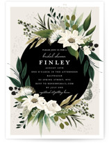 This is a brown bridal shower invitation by Susan Moyal called Botanical Ring with standard printing on signature in standard.