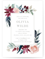 This is a red bridal shower invitation by Creo Study called Garden Stroll with standard printing on signature in standard.