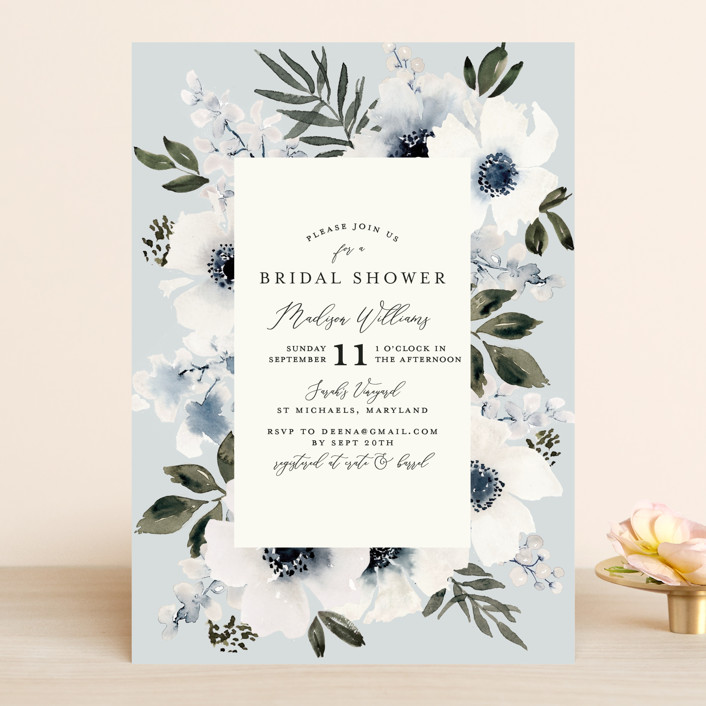 """Nantucket Romance"" - Bridal Shower Invitations in Marine by Chris Griffith."