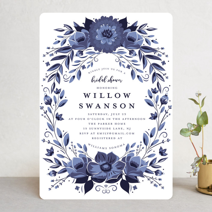 """Glazed"" - Bridal Shower Invitations in Azure by Susan Moyal."