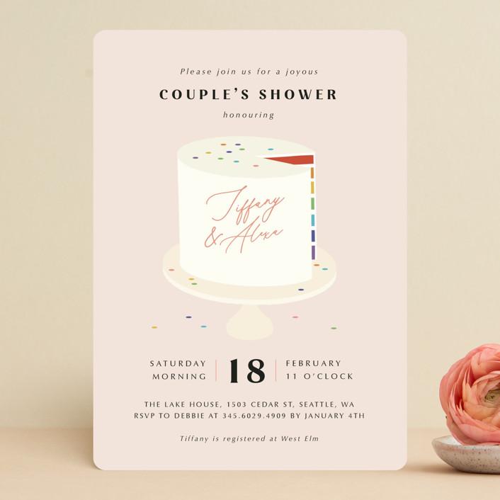 """Rainbow Slice"" - Bridal Shower Invitations in Blush by Adelyn T.."