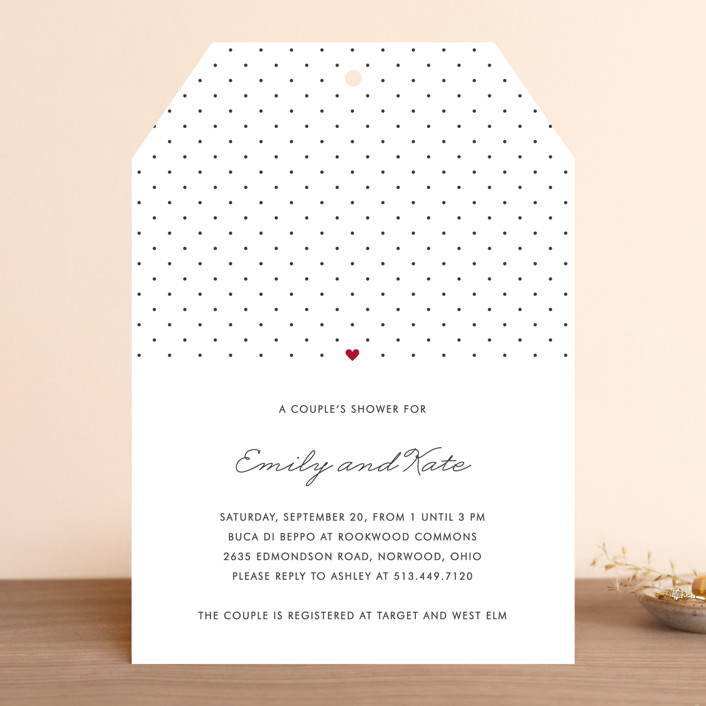 Polka Dot Bridal Shower Invitations By