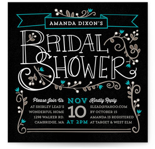 Mystique Bridal Shower Invitations