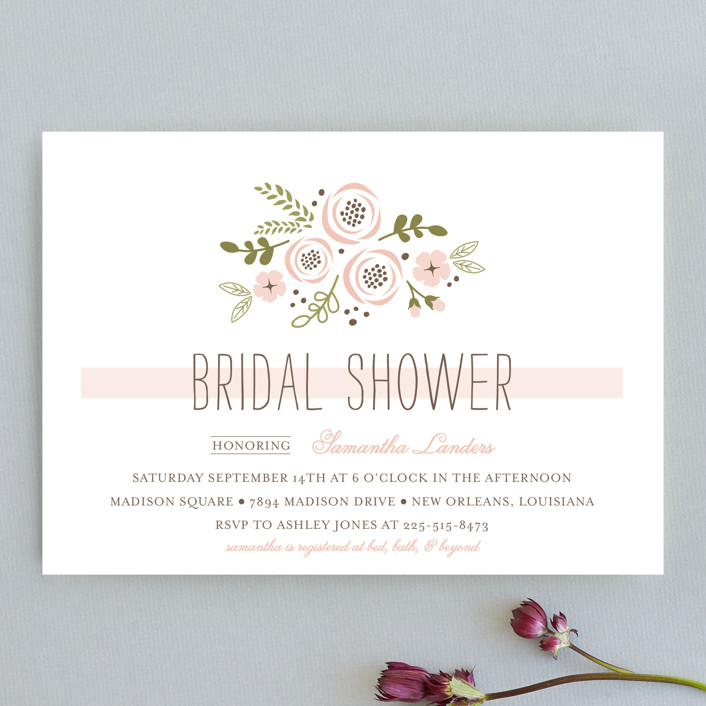 """""""Soft Florals"""" - Floral & Botanical Bridal Shower Invitations in Blush by Chasity Smith."""