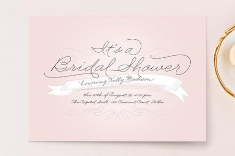 Perfect Penmanship Bridal Shower Invitations