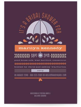 Under My Umbrella Bridal Shower Invitations