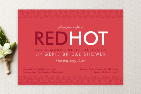 Red Hot Bridal Shower Invitations