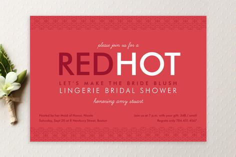 Red Hot Bridal Shower Invitations
