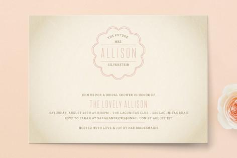 Bonne Amie Bridal Shower Invitations