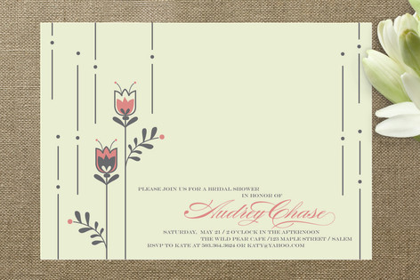 Tulips Bridal Shower Invitations
