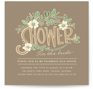 Florella Bridal Shower Invitations
