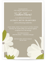 This is a brown bridal shower invitation by Toast & Laurel called Southern Magnolia with standard printing on signature in standard.