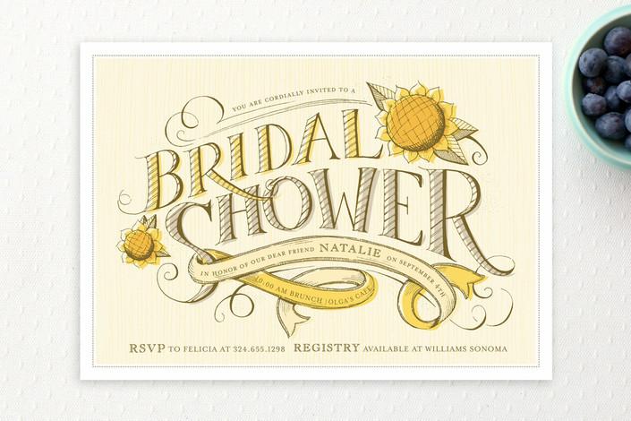 """""""Farmer's Market"""" - Bridal Shower Invitations in Sunflower by pottsdesign."""