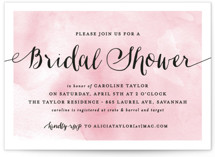 This is a pink bridal shower invitation by Hooray Creative called Watercolor Shower with standard printing on signature in standard.