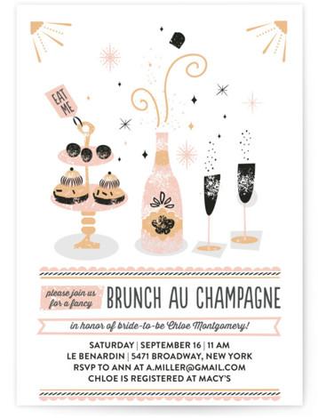 Brunch Au Champagne Bridal Shower Invitations