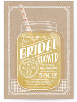 This is a yellow bridal shower invitation by Ann Gardner called Summer Sippin' with standard printing on signature in standard.