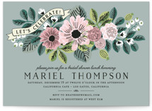 This is a green bridal shower invitation by Chris Griffith called Wedding Trellis with standard printing on signature in standard.