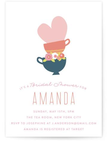 Love like Tea Bridal Shower Invitations