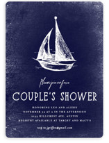 This is a blue bridal shower invitation by Rebecca Bowen called Nautical with standard printing on signature in standard.