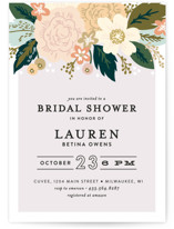 This is a colorful bridal shower invitation by Alethea and Ruth called Classic Floral with standard printing on signature in standard.