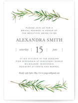 This is a green bridal shower invitation by Erin Deegan called Simple Sprigs with standard printing on signature in standard.