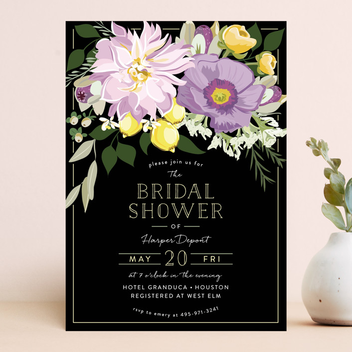 """""""Spring Blooms"""" - Bridal Shower Invitations in Blush by Susan Moyal."""