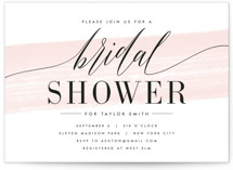 This is a pink bridal shower invitation by Kristie Kern called Effervescent with standard printing on signature in standard.