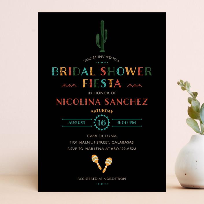 """fun fiesta"" - Bridal Shower Invitations in Confetti by Jennifer Lew."