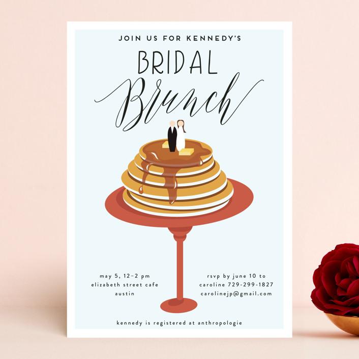 """Bridal Brunch"" - Bridal Shower Invitations in Pomegranate by Haley Warner."